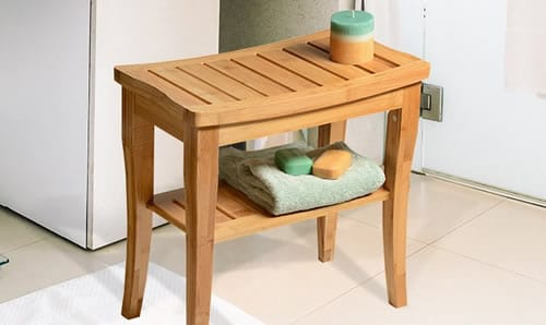 Best bamboo shower seat