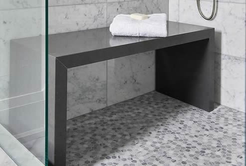 Marble shower bench material
