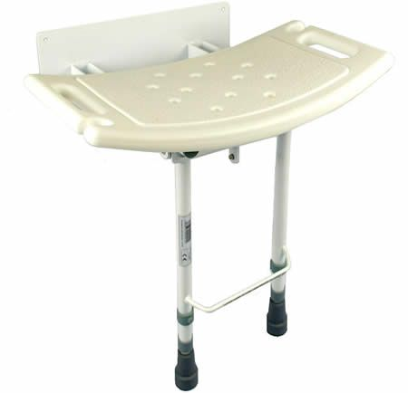 Folding shower seat with legs