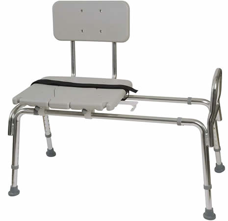 Sliding shower seats for disabled