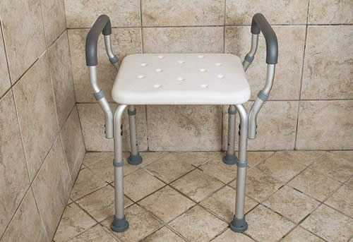 PVC shower bench