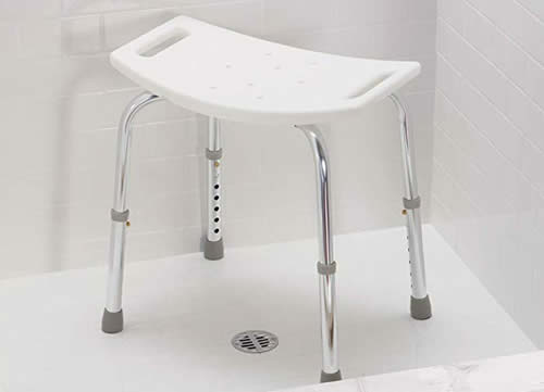 Plastic shower bench seat